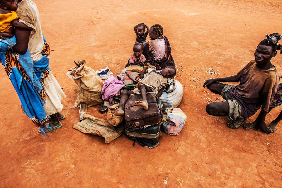 Soedanese vluchtelingen in Yida, Zuid-Soedan. (Maart 2015).