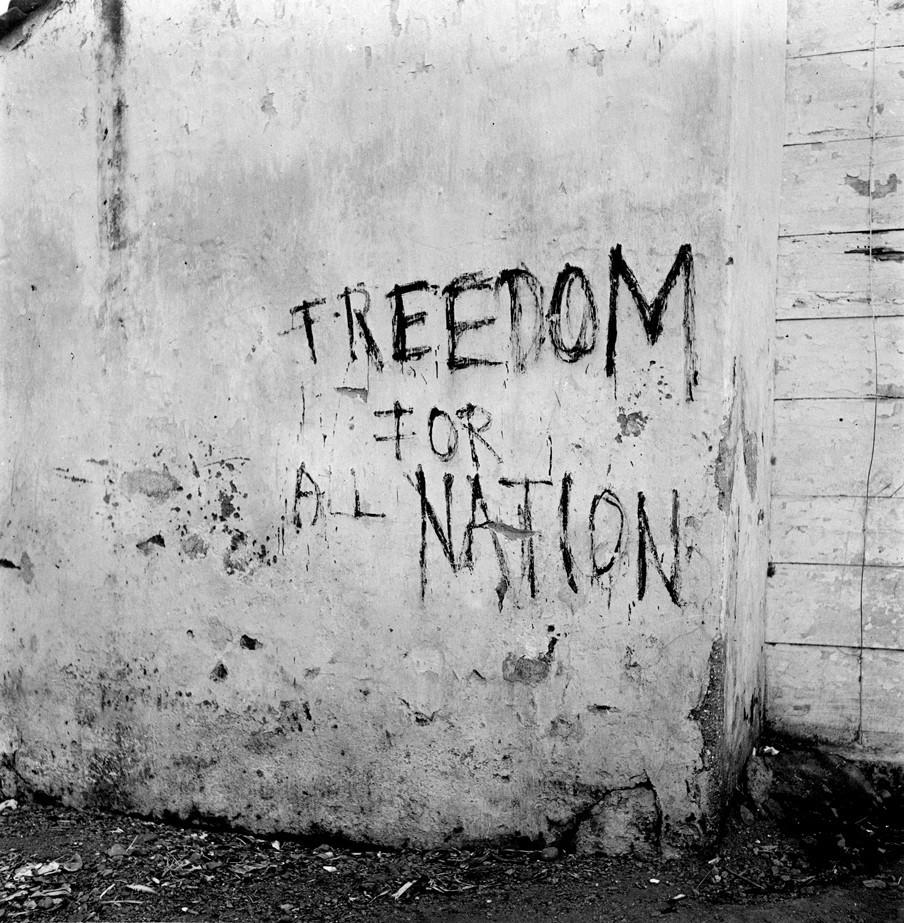 Protestleus voor onafhankelijkheid in Indonesië (1947). Foto: Cas Oorthuys / Hollandse Hoogte