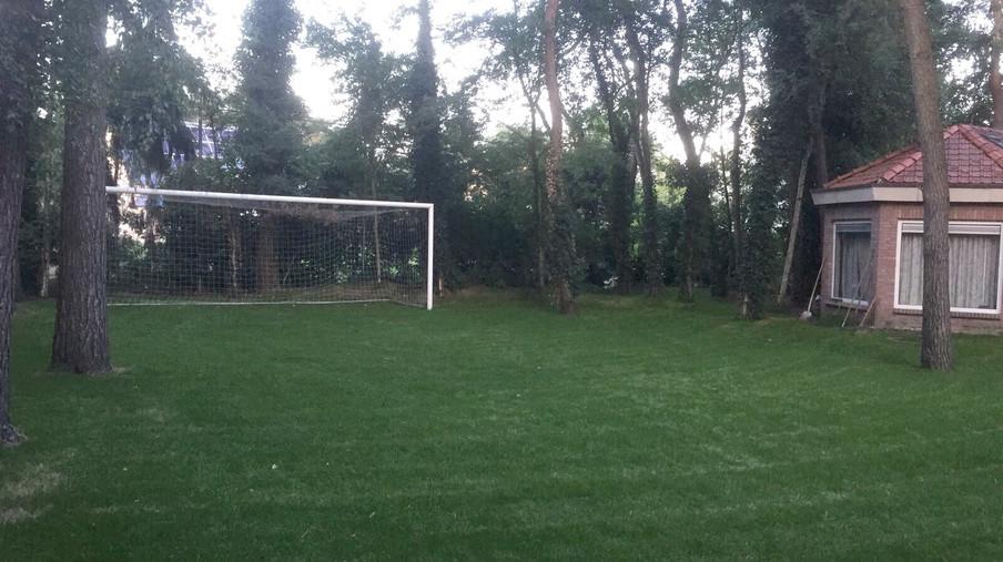 Het doel in de achtertuin van de familie Groenen. Foto: privéarchief