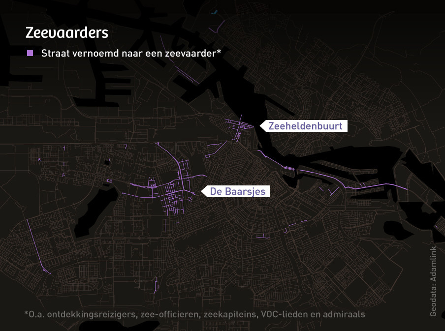 Straten van de eerdergenoemde nieuwe wijk in IJburg staan niet op de kaart.