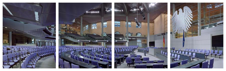 Duitsland, Deutscher Bundestag. Uit de serie Parliaments of the European Union door Nico Bick.