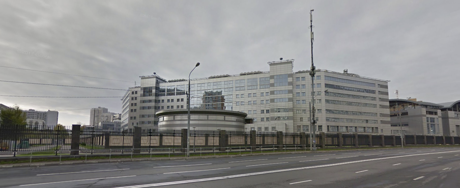 The GRU's Moscow headquarters on Google Street View. You can clearly see the fence around the campus.