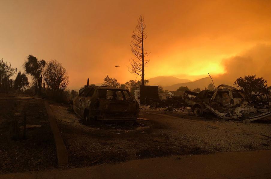 Een geblakerd landschap dichtbij Keswick, Californië, 27 julie 2018. Foto: Alexandria Sage / Reuters