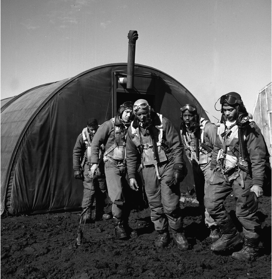 Tuskegee Airmen in Ramitelli, Italië, maart 1945. Foto: Toni Frissell, Library of Congress