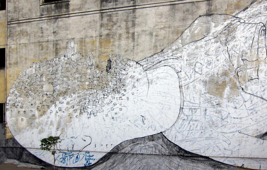Muurschildering door BLU. Foto: Wally Gobetz