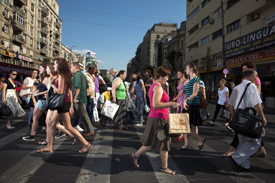 Boekarest, Roemenië. Uit de serie 'Crossing Europe' van Poike Stomps.