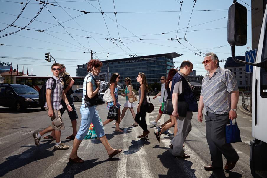 Bratislava, Slowakije. Uit de serie 'Crossing Europe' van Poike Stomps.