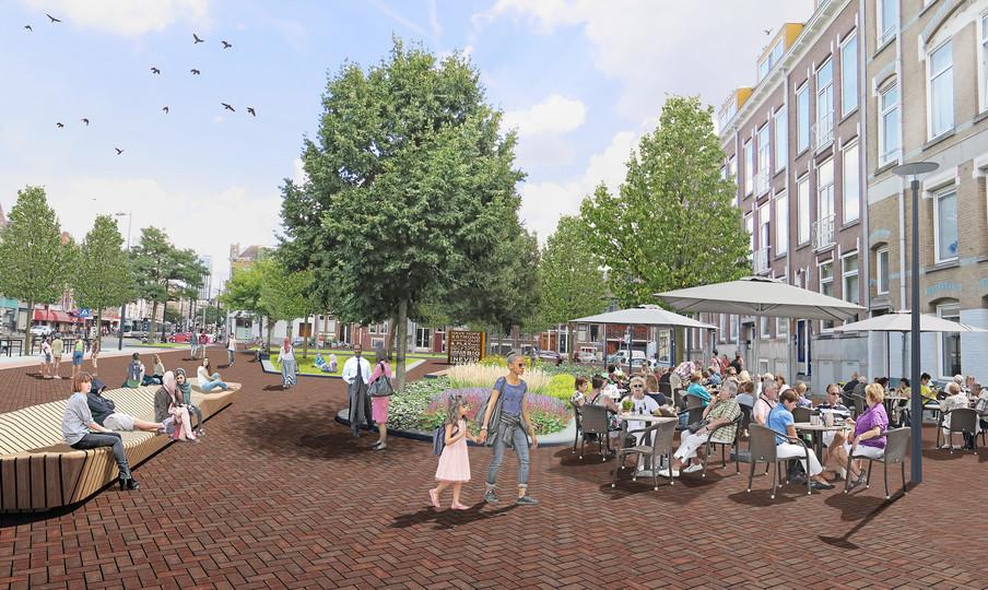 Artist impression gemaakt door de gemeente Rotterdam