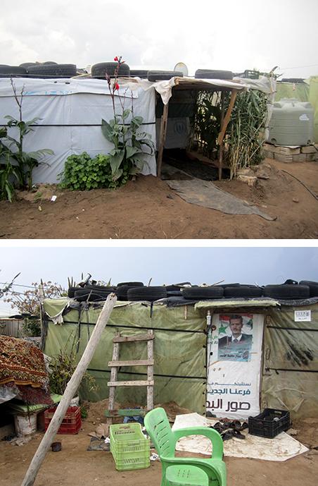 Het tentenkamp in Tyrus waar Abu Alaa woont. Foto's: Marit de Looijer