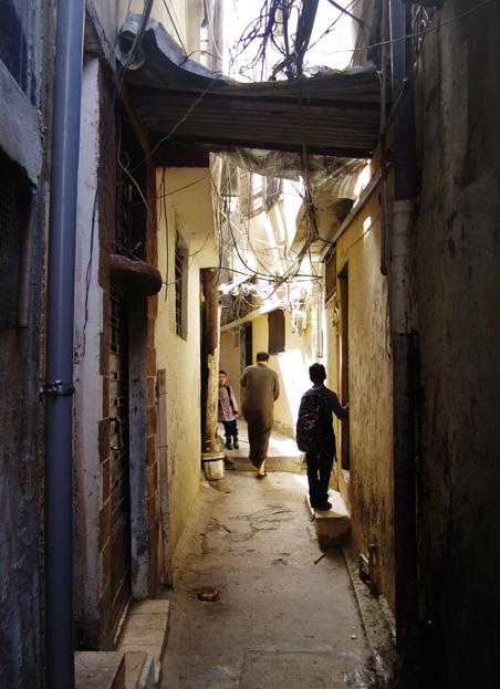In Ain al-Hilweh, het grootste Palestijnse vluchtelingenkamp in Libanon. Foto: Marit de Looijer