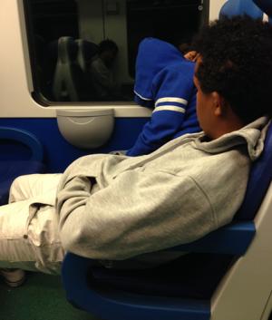 In de trein naar Ventimiglia