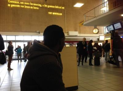 Op het station in Eindhoven