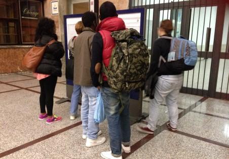 Op het station in Ventimiglia