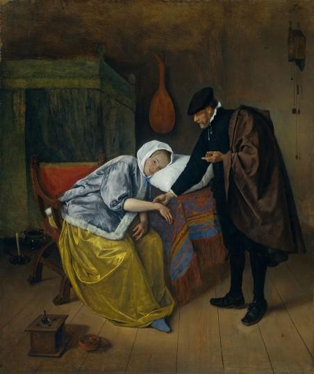 'Zieke vrouw' van Jan Havicksz Steen (1626-1679). Beeld: Getty