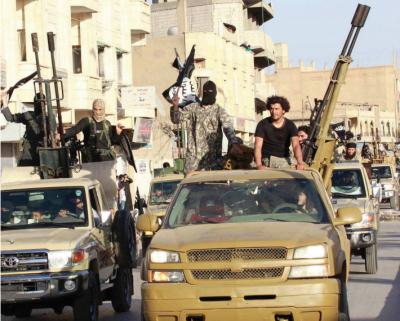 Screenshot van een foto uit de vierde uitgave van het magazine van ISIS, 'Dabiq'.