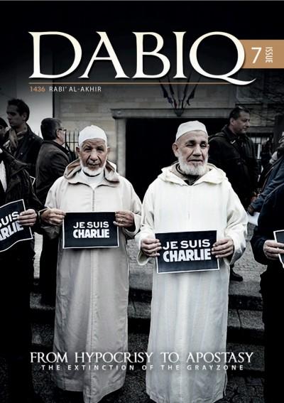 Cover van de zevende uitgave van 'Dabiq', het magazine van ISIS.