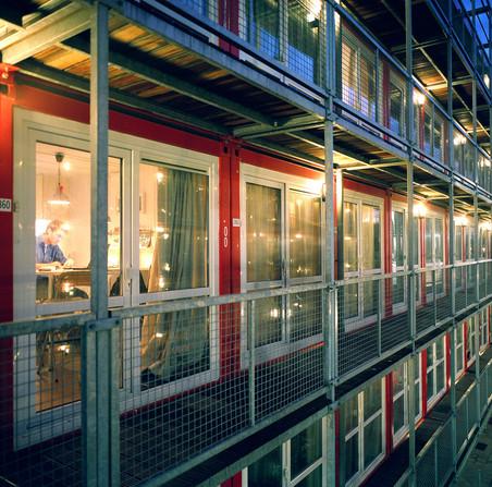 Containerwoningen voor studenten in Amsterdam. Foto: Christian Lutz/Hollandse Hoogte