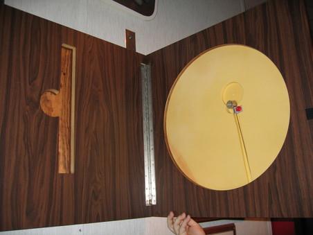 Het afluisterapparaat The Thing in een uitgeholde ruimte binnenin The Great Seal.