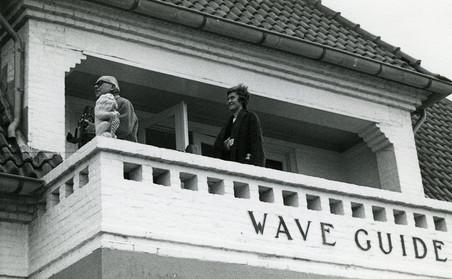 Schimmel op het balkon van de villa. Foto: privéarchief