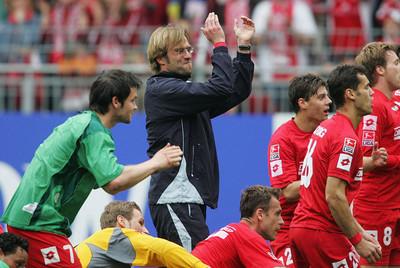 Jürgen Klopp na een overwinning op Hannover 96. Foto: Getty