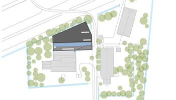 Plattegrond van het nieuwe ontwerp van de schuur door architectenbureau DAAD