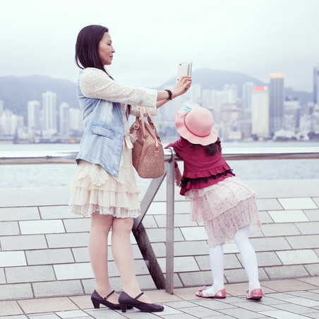 Uit de fotoserie 'The Self Promenade'. © Luisa Dorr en Navin Kala