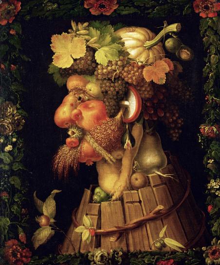 'Herfst' van de Italiaanse schilder Giuseppe Arcimboldi (1526 - 1593).