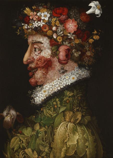 'Lente' van de Italiaanse schilder Giuseppe Arcimboldi (1526 - 1593).