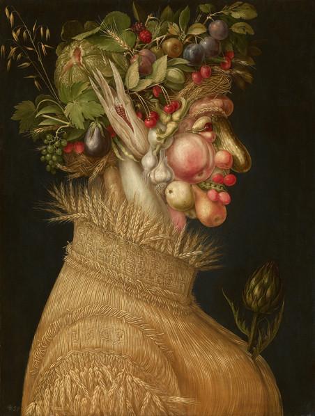 'Zomer' van de Italiaanse schilder Giuseppe Arcimboldi (1526 - 1593).
