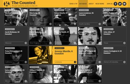 Website van 'The Counted'