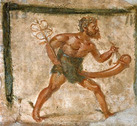 Fresco van Mercurius (Italië, 1ste eeuw na Christus).