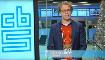 Still uit een filmpje van het CBS kanaal op Youtube, waar econoom Floris Jansen toelichting geeft op de overheidsfinanciën.