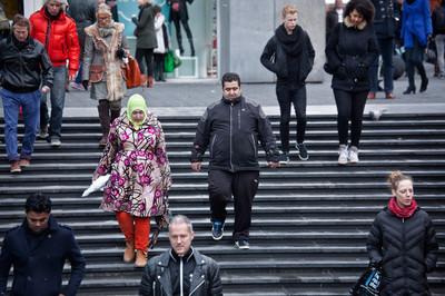 Rotterdam, Beurstraverse. Foto's: Otto Snoek/Hollandse Hoogte