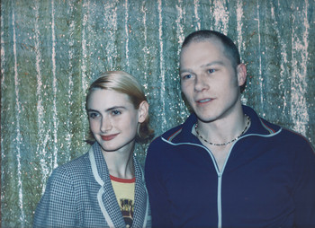 Jannah Loontjens en André Noorda in de Supperclub. Foto: Sannah de Zwart