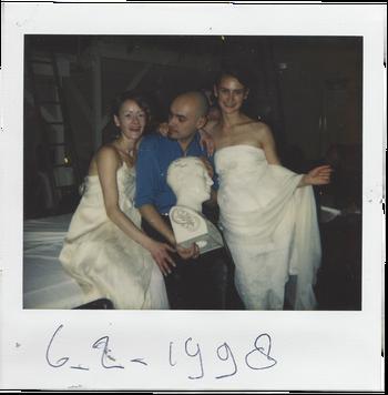 Gail Watson, José Sanchez en Jannah Loontjens in de Supperclub.