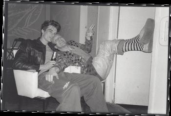 Mike Kivits (dj Aardvarck) en Harrie Wildeman. Foto: Jannah Loontjens