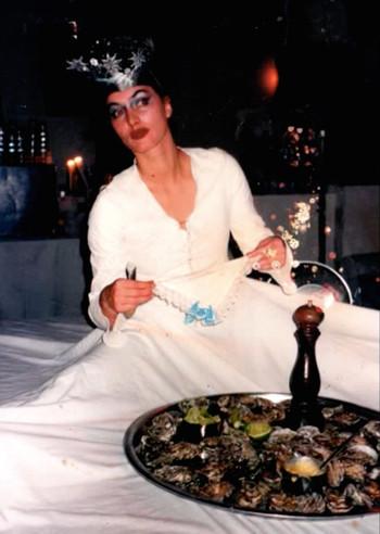 Bezoeker van de Supperclub. Foto uit het archief van Guda Stoop.