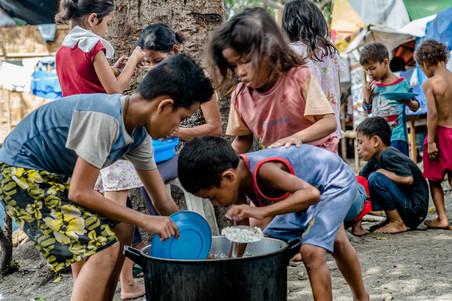 In het opvangkamp in de regionale hoofdstad Davao. Foto's: Andreas Stahl