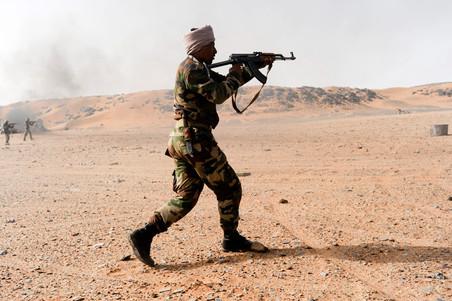 17 juni 2010: Het Malinese leger vecht tegen jihadistische groepen. Foto's: Luis De Vega / HH
