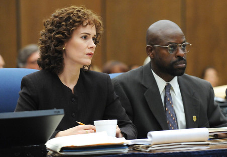 Aanklagers Marcia Clark en Christopher Darden.