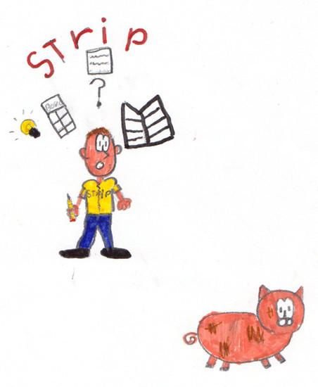 Gideon wil wellicht striptekenaar worden. Illustratie: Gideon