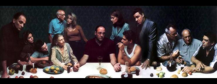 The Sopranos als een verwijzing naar het schilderij 'Het laatste avondmaal' van Leonardo da Vinci.