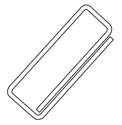 De door Johan Vaaler in 1899 en 1901gepatenteerde paperclip.