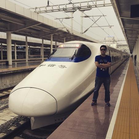 #train. Foto: hzy3302106 / Instagram