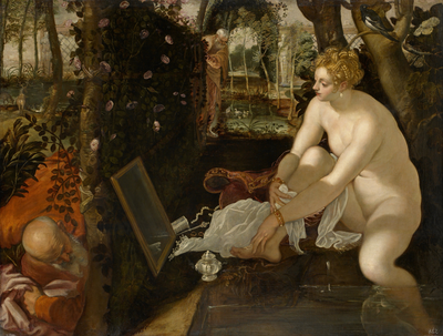 Tintoretto's 'Susanna and the Elders,' omstreeks 1555. Collectie: Kunsthistorisches Museum