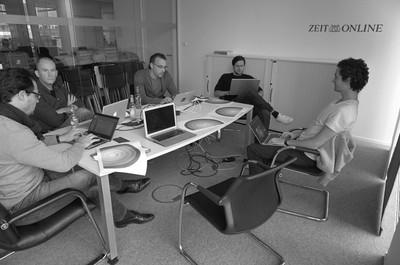 Op het kantoor van ZEIT ONLINE in Berlijn.