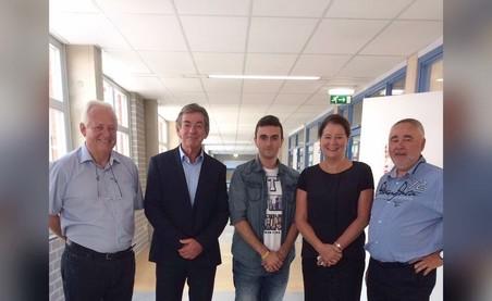 Hoseb met de burgemeester van Maastricht. Foto: Hoseb Assadour