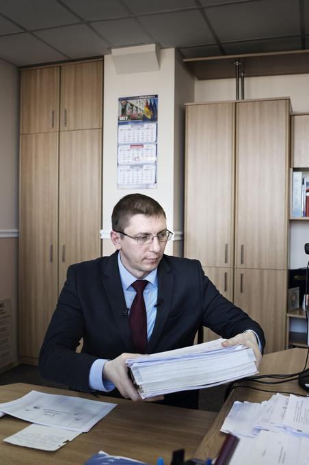 Viorel Morari, hoofdaanklager van het Moldavische anti-corruptiebureau. Foto: Niels Ahlmann Olesen / Berlingske