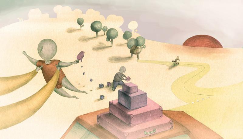 Dit is een van de illustraties die Kwennie Cheng eerder maakte voor De Correspondent.