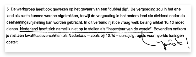 "From the document ""Memo on streamlining anti-abuse clauses"" (2006), obtained under the Dutch Freedom of Information Act (in Dutch only)."